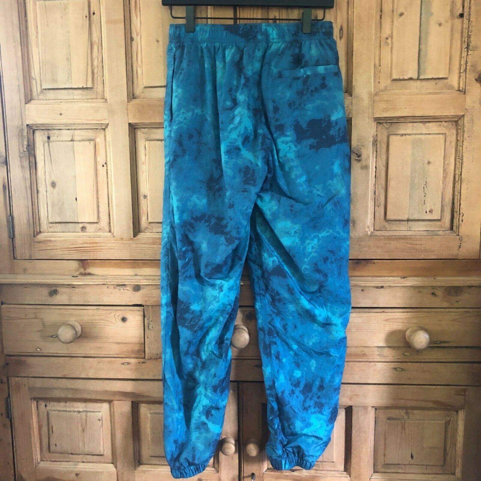 Women's Urban Outfitters Small Blue Swishy Trackpants