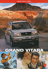 Prospekt 2002 Suzuki Grand Vitara 5 Türer 2 02 brochure Auto Pkw Japan Autoprosp