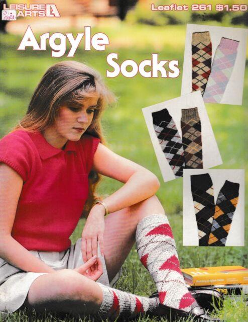 Knitting Pattern ~ Ladies Hunters Argyle Socks ...