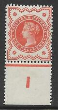 ½d Vermillion control I perf single superb MOUNTED MINT in margin only