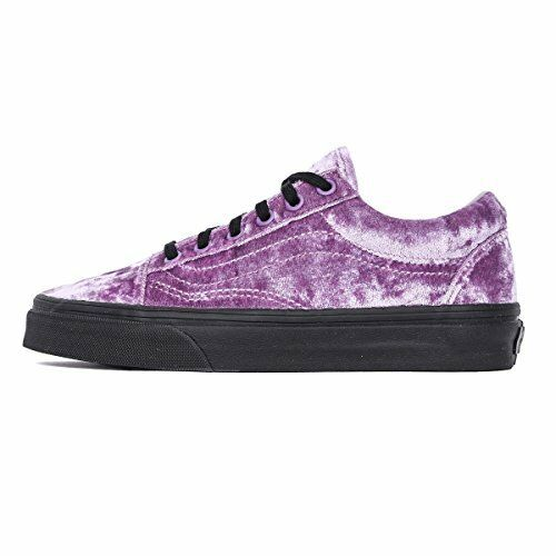 158fb542554 VANS Mens 9.5 Womens 11 Old Skool Velvet Sea Fog Purple Black Sole ...