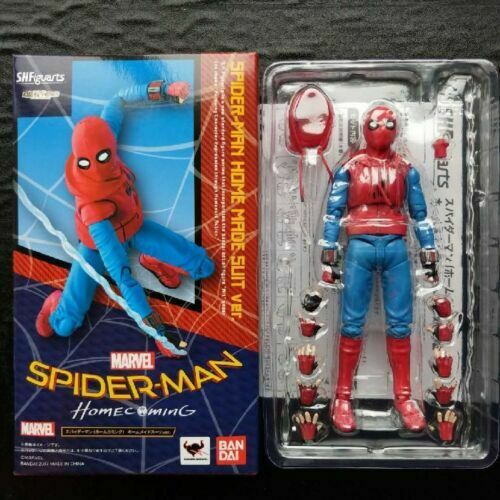 6/'/' Marvel S.H.Figuarts Spider-Man Homecoming Home Made Suit Figure Toy in Box