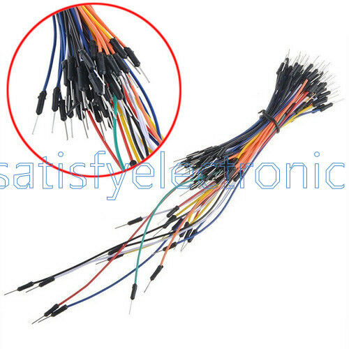 65PCS Jump Cable Wires+MB102 400 Point Solderless PCB Breadboard+Power Supply SF