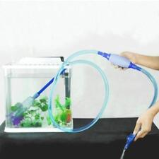 8.2ft Vacuum Siphon Pump Quick Release Aquarium Fish Tank Drainer Gravel... Pet Supplies