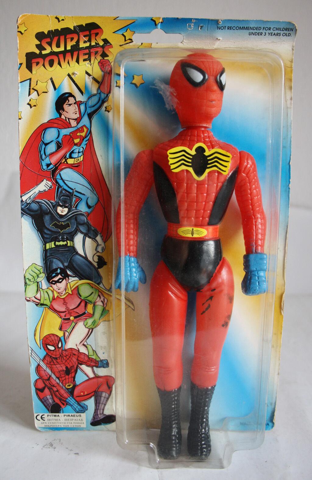 RARE RARE RARE VINTAGE 80'S SPIDERMAN FIGURE MEGO KO SUPER POWERS VHTF NEW SEALED MOSC 847725