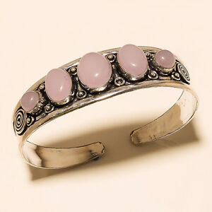 SO-BEAUTIFUL-925-STERLING-SILVER-OVERLAY-GEMSTONE-BRACELET-CUFF-JEWELLERY