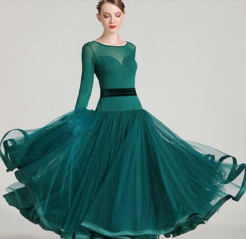 Modern Waltz Tango Smooth Latin Ballroom Competition Dance Dress Ball Gown Dress