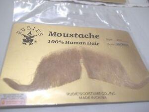 BLONDE-Handlebar-Mustache-Human-Hair-Professional-Realistic-Big-Cowboy-BLOND