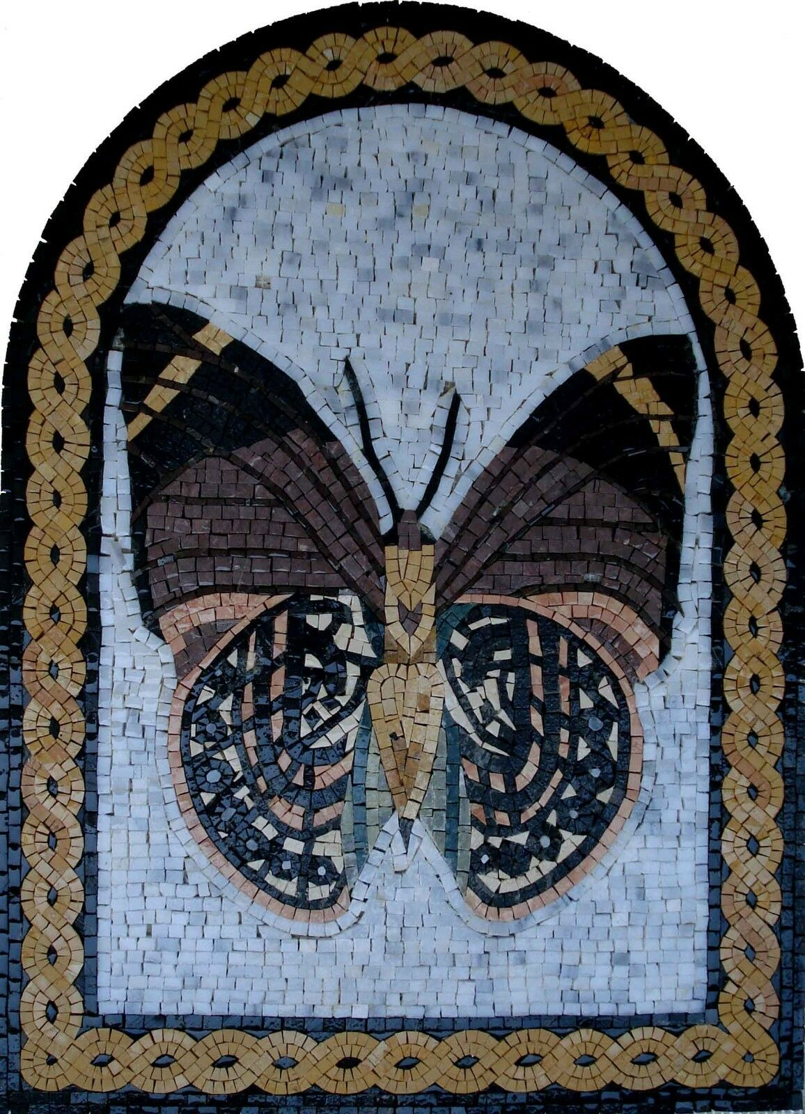 26 x 20  Handmade Butterfly Mural Home Design Marble Mosaic Stone Art