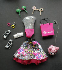 Tokidoki Barbie Pink Hair Tattoos OUTFIT ONLY 10th Anniversary Model Mude