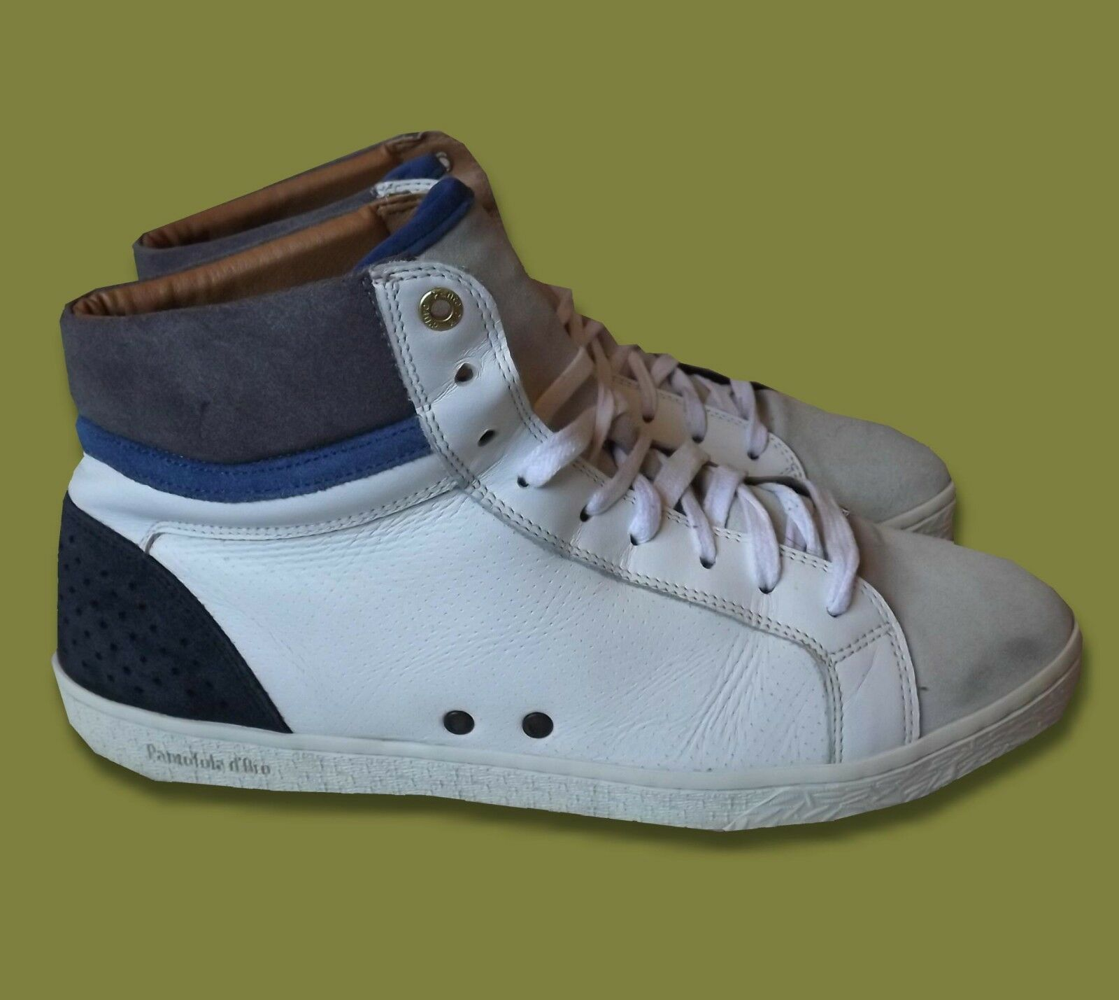 PANTOFOLO D'gold.  MEN'S SHOES HI TOPS CASUAL BOOTS TRAINERS LEATHER