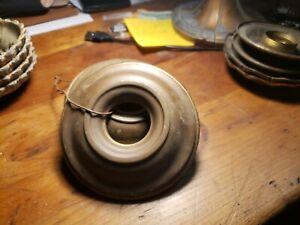 Lot de 3 Vintage laiton Bobèche Socket Covers Pan Plafonnier Luminaire Lustre