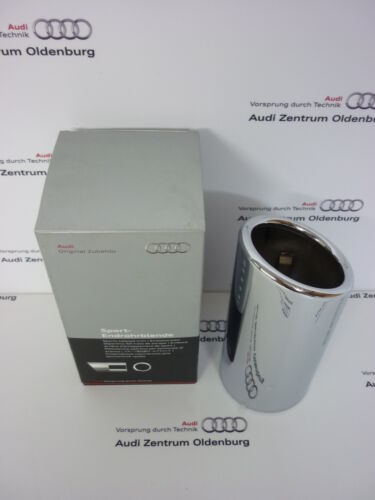 Original Audi Endrohrblende //Auspuffblende Audi A1 //Audi A3 Chrom