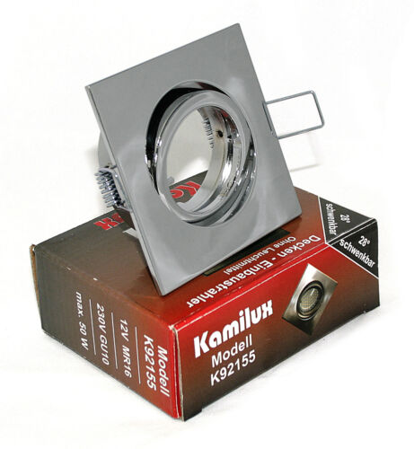 230V Einbaustrahler Spot Quajo eckig Aluminium /& Fassung LED Halogen 12V