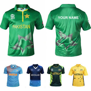 Details About Cricket T Shirt T20 Worldcup Jersey Your Name On Back Customized
