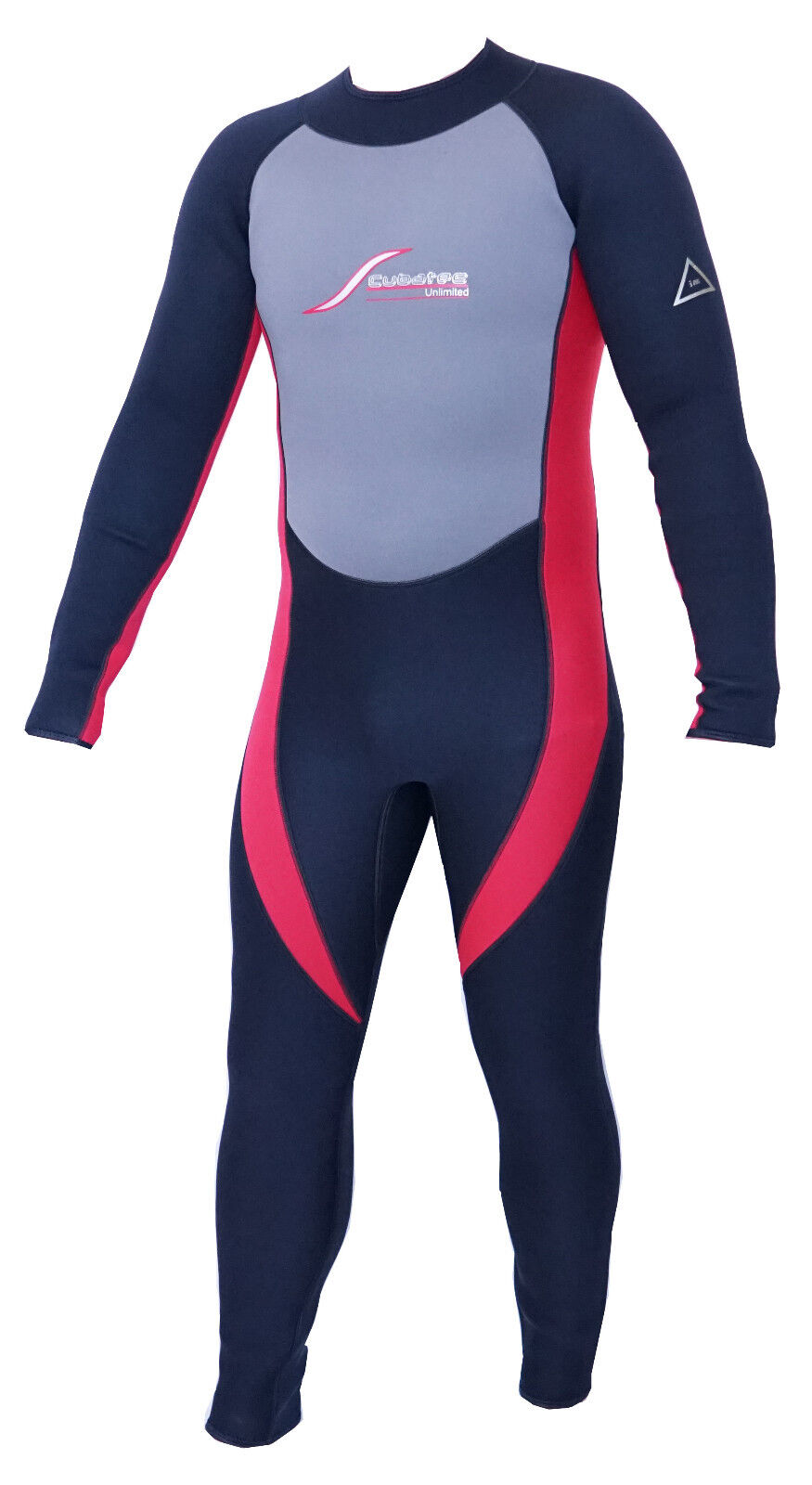 Scubatec Wet Suit 3mm Men's Surfing Sailing Wakeboard Diving Suit red-greyx