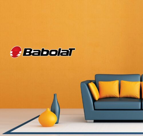"""2 Babolat Tennis Racquet Ball Room Wall Garage Decor Sticker Decal 25/""""X5/"""""""