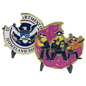 Police-Task-Force-Simpsons-inspired-Donut-Challenge-Coin-NYPD-CBP-FBI-Task-Force