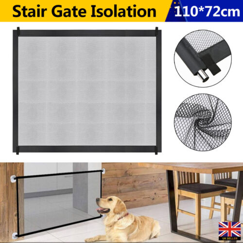 Large Retractable Pet Dog Gate Safety Guard Folding Baby Stair Gates Isolation