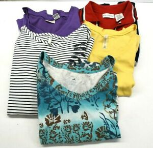 White-Stag-Women-039-s-Large-12-14-Sleeveless-Polo-Tank-Tops-amp-T-Shirts-Lot-of-5