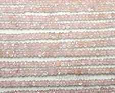 """13"""" MORGANITE PINK AQUAMARINE 2.5mm Faceted Rondelle Beads NATURAL AAA /D5"""