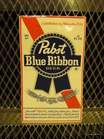 Pbr Pabst Blue Ribbon Beer Sticker 3 1/4 X 5 1/2 Decal Free Us Ship