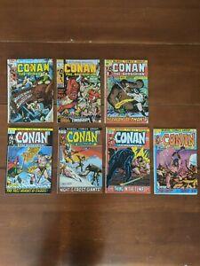 Conan-the-Barbarian-comics-6-10-11-15-16-18-19-Marvel-1971