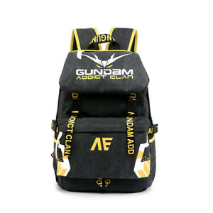 3417ba6cb6 Image is loading Anime-GUNDAM-Banshee-Oxford-Backpack-Laptop-Travel-Shoulder -