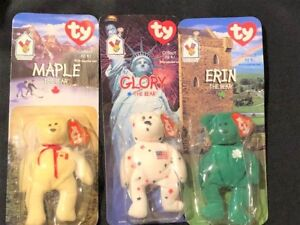 363f29b395b Vintage Ty Teenie Beanie Baby Erin Maple Glory The Bear McDonalds ...