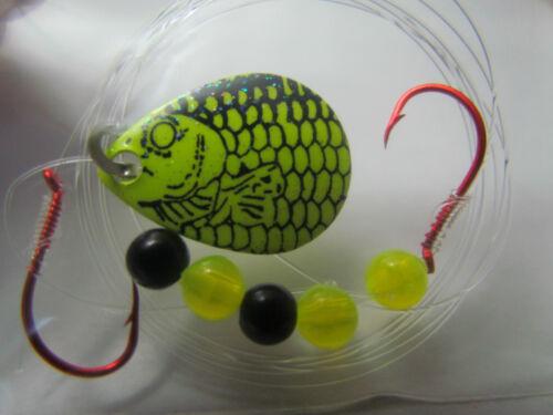 Bass Pike Colorado Blades 5 Spinner Rigs Leech Minnow Crawler Harness Walleye