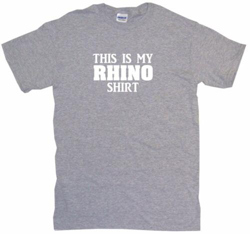 This is my Rhino Shirt Mens Tee Shirt Pick Size Color Small-6XL