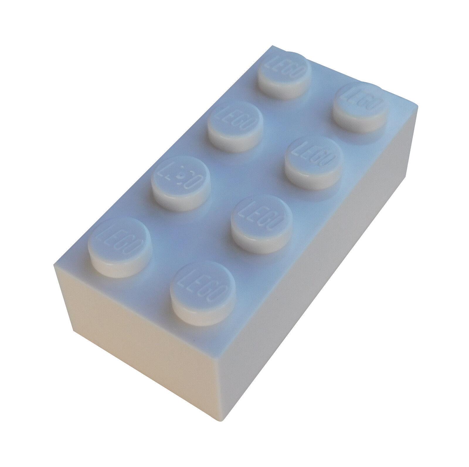 Lego 4 x Baustein Basic Stein 2456  weiß  2x6