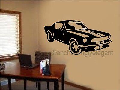 Mustang Shelby Car Vinyl Decal Wall Sticker Office Shop Teen Boy Room Decor Art