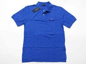 New-with-tag-NWT-Boys-Ralph-Lauren-Barclay-Blue-Short-Sleeve-Polo-Shirt-L-XL