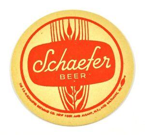 Vintage-Schaefer-USA-Beer-Bier-Bierdeckel-Untersetzer-Coaster-sous-bock