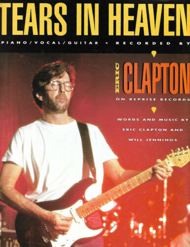 Tears in Heaven by Eric Claptin SHEET MUSIC-Piano//vocals//Guitar