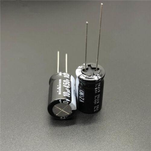 5pcs//50pcs 450 V 10uF 450 V Nichicon VZ 12.5x20mm large plage de température Condensateur