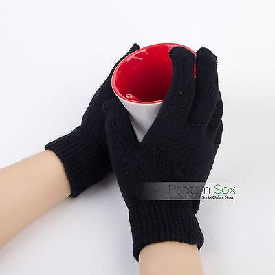 Ladies Gloves Black Navy Blue Green Winter Full or Fingerless Gloves