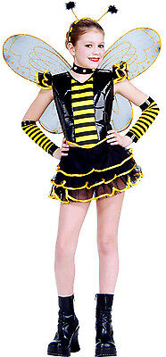 QUEEN BEE bumblebee kids tutu skirt girls halloween dress costume SMALL 4-6