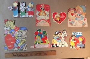 Vintage Ginny Valentine  Cards 8 cards