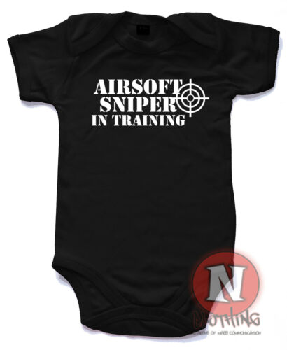Airsoft sniper in training Cute Babygrow Baby Suit Great Gift vest