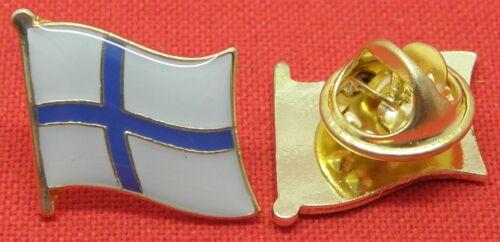 Finland Country Flag Lapel Hat Tie Pin Badge Brooch Suomen tasavalta Republiken