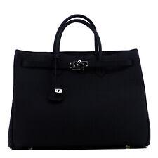 STUDIO.MUNET Schwarz | Silber | Icone 40 Tote Leder Bag Shopper Handtasche