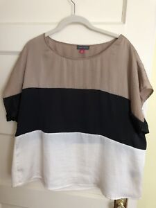 Vince-Camuto-Color-Block-Top-Size-XL-New