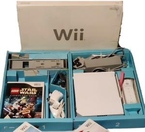 Nintendo Wii Paquete de todos los equipos Cajas Originales 3 juegos todas las buenas condiciones Wii