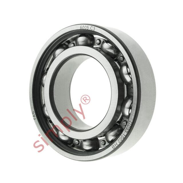 6005 25x47x12mm Open Unshielded FAG Radial Deep Groove Ball Bearing