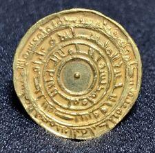 FATIMID ISLAMIC GOLD DINAR COIN AUTHENTIC In MISR 355 AH ALmu?izz 4.2g RARE