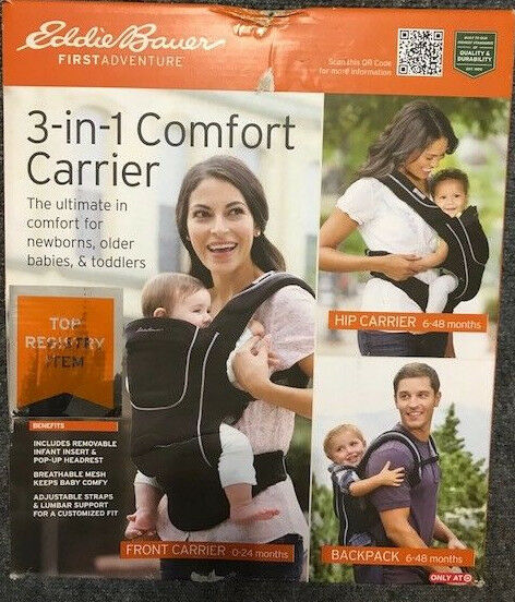 dec722c5136 Eddie Bauer Dan1913016 3-in-1 Comfort Baby Carrier Black for sale ...