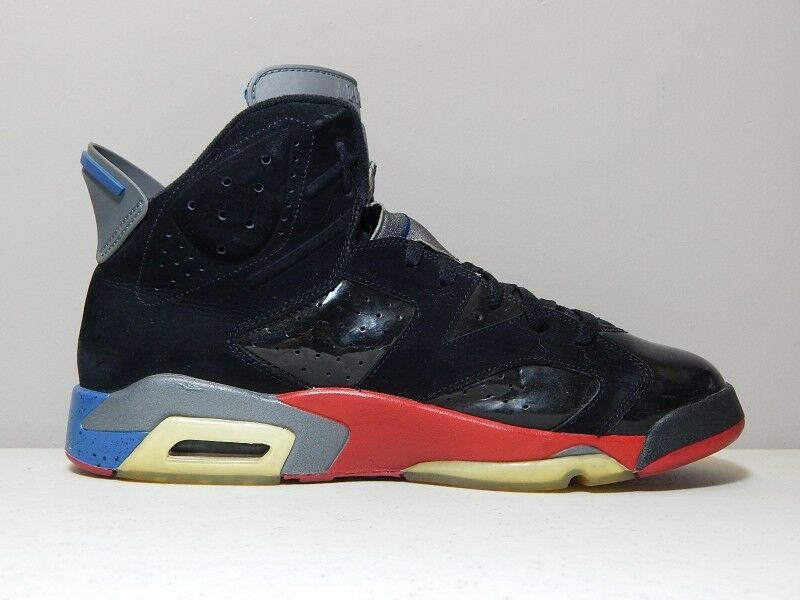 f4b494410584a0 ... Nike Nike Nike Shoes - 2009 Jordan 6 VI Detroit Pistons - Black Red  Bred Blue ...