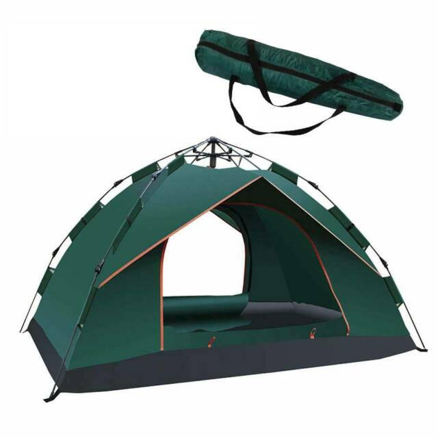 2 3 Persons Double Layer Instant Auto Pop Up Large Camping Tent Outdoor Shelter